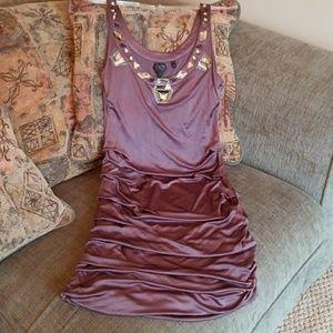Tank Dress jewel neck with ruching